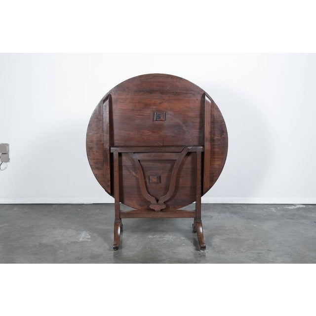 Antique French Wine Tasting Table For Sale - Image 10 of 10