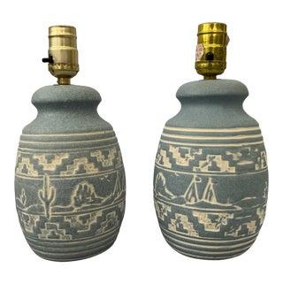 Southwest Cactus Lamps - A Pair For Sale