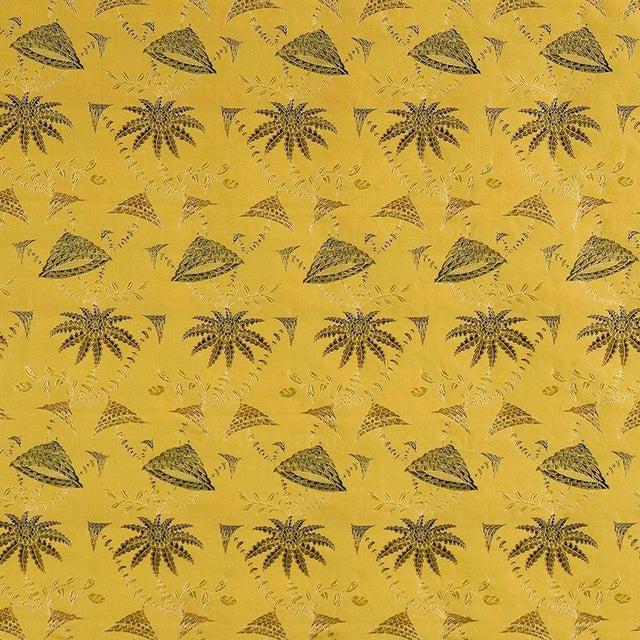 Sample, Suzanne Tucker Home Brighton Bizarre Silk Satin Brocade in Golden For Sale