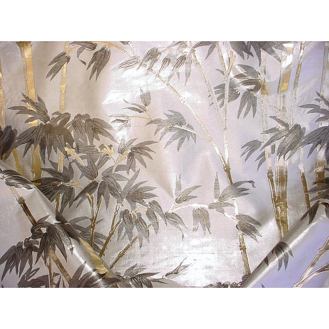 Kravet Couture Asian Chic Embossed High Shine Silk Upholstery Fabric - 9-3/4y For Sale