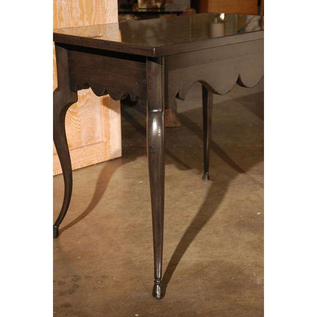 2010s Customizable Paul Marra Cabriole Leg Table with Mirrored Top For Sale - Image 5 of 6