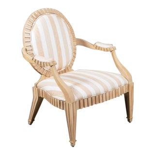 1980s Vintage Neo Rococo Italian Trompe l'Oeil Bergere Chair