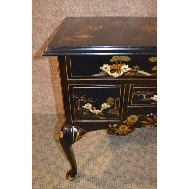 Vintage Hand Painted Chinoiserie Lowboy - Image 6 of 11