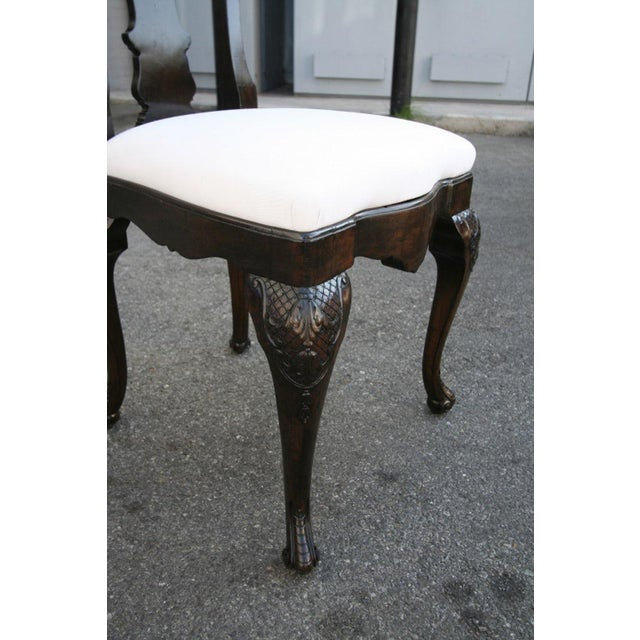 White 19th Century Dutch Library Desk Table and Chairs Set For Sale - Image 8 of 9