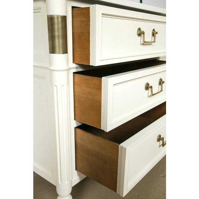 Baker Furniture White Lacquered Nine-Drawer - Image 4 of 6