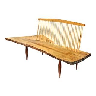 George Nakashima-Style Studio Craftsman Spindle-Back Bench