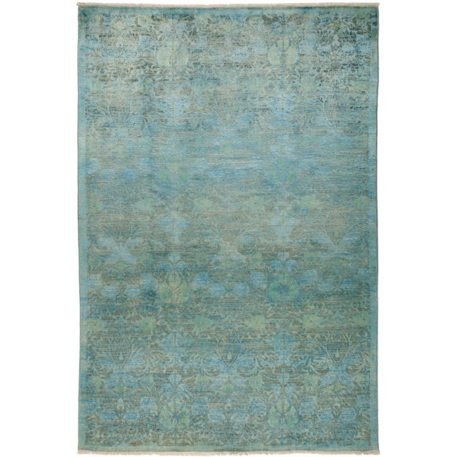 """Vibrance Hand Knotted Area Rug - 6' 1"""" X 9' 0"""" - Image 4 of 4"""