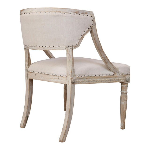 Gray Pair of 19th Century Swedish Armchairs For Sale - Image 8 of 9