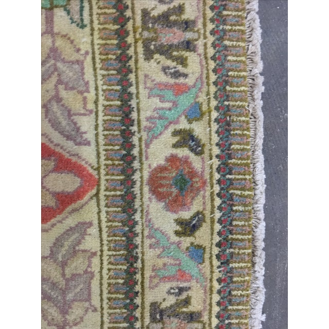 "Vintage Tabriz Persian Rug - 3'4"" X 5'1"" - Image 9 of 10"