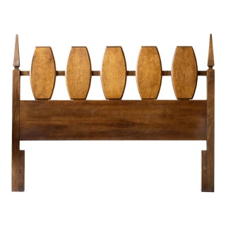 Young Manufacturing Mid-Century Modern Headboard For Sale