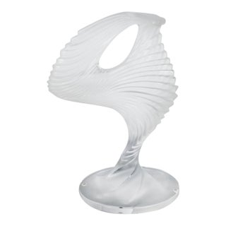 "Lalique ""Trophee"" Sculpture in Frosted Clear Crystal, France, circa 1995 For Sale"