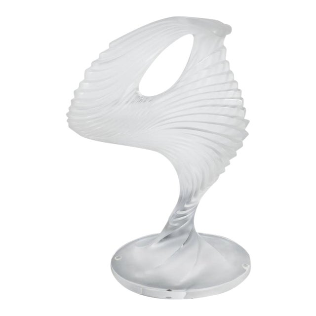 """Lalique """"Trophee"""" Sculpture in Frosted Clear Crystal, France, circa 1995 For Sale"""