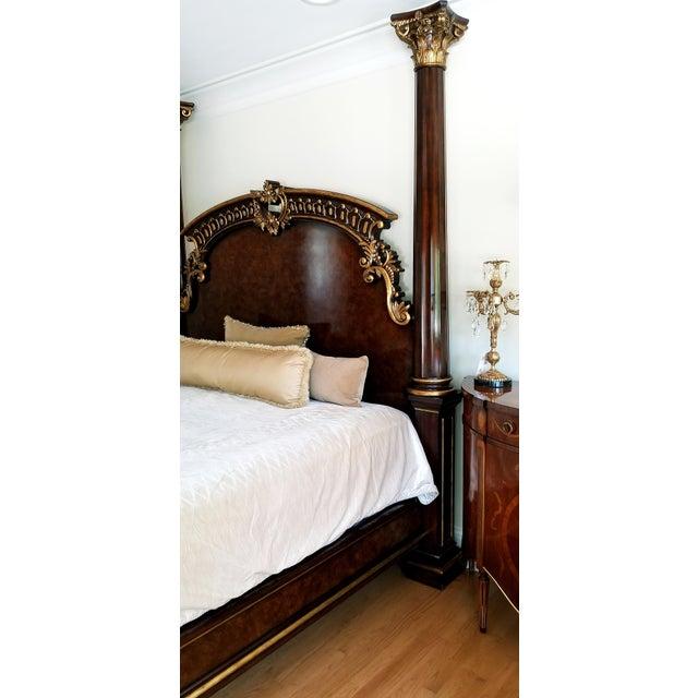 Traditional Henredon Arabesque Bedframe For Sale In Chicago - Image 6 of 13