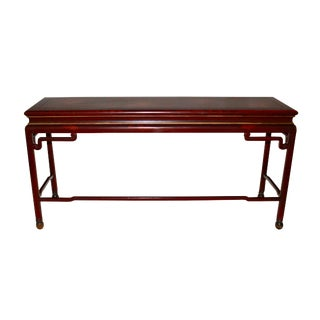 1970s Chinoiserie Console Table / Sofa Table For Sale