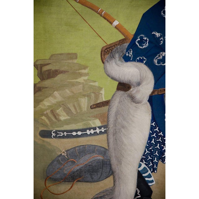 Late 19th Century L. Valdemar Fischer Samurai Oil on Canvas Painting For Sale - Image 5 of 13
