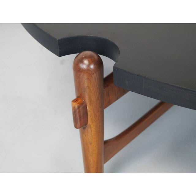 Mid-Century Modern Cut-Out Coffee Table Attributed to Greta Grossman For Sale - Image 3 of 7