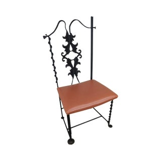 j.w. Zan Hand Forged Reclaimed Iron Chair For Sale