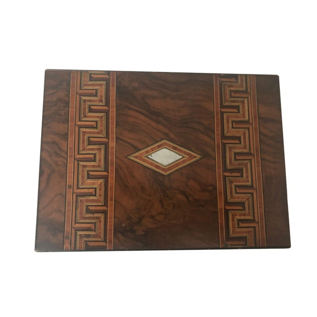 1900 - 1909 Antique French Marquetry Inlay Jewelry Box For Sale - Image 5 of 10