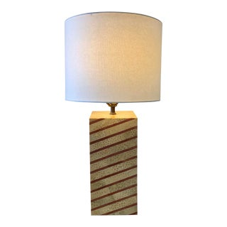 Tessellated Stone Table Lamp For Sale