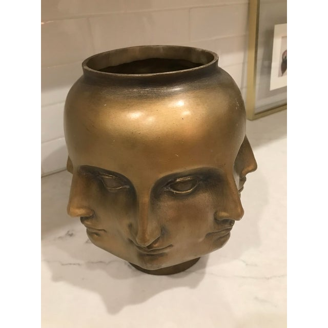 2000 - 2009 Modern Pietro Fornasetti Style Dora Marr Gold Perpetual Face Vase For Sale - Image 5 of 8