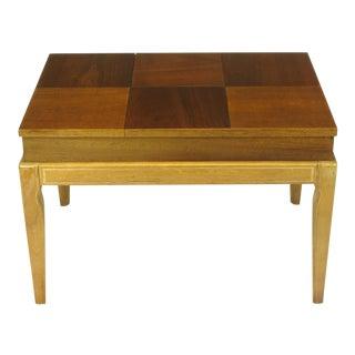 "John Van Koert ""Casa Del Sol"" Parquetry Walnut End Table with Opening Top For Sale"