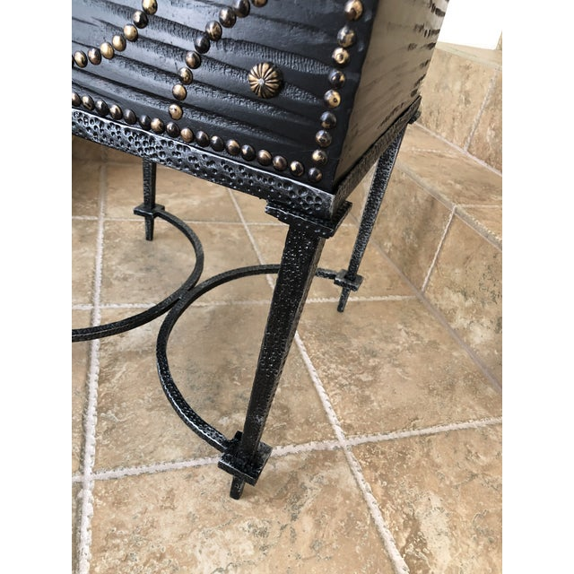 Black Document Box Accent Table From the Colonial Williamsburg Collection by Global Views For Sale - Image 8 of 13