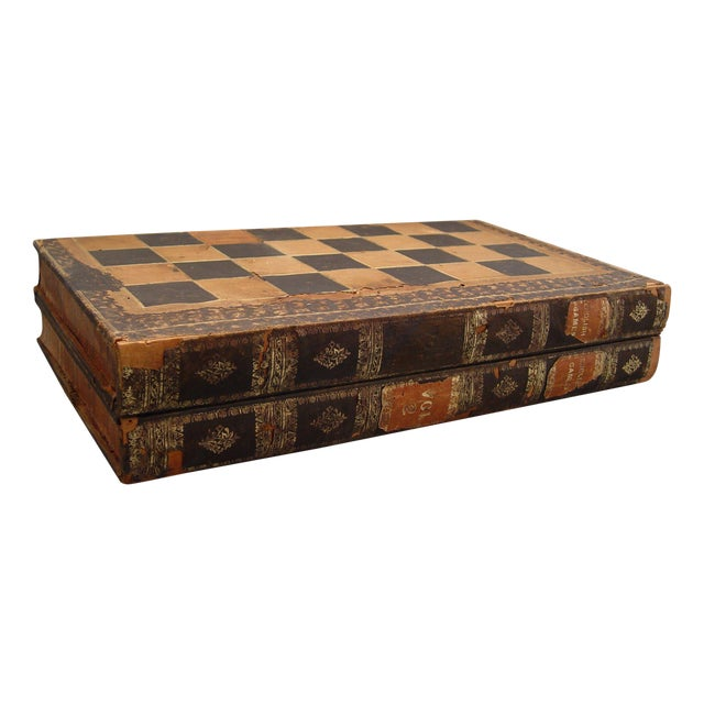 Backgammon Chess Board Book Box - Image 1 of 8
