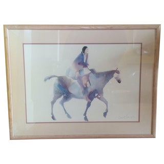 Native American Watercolor Print - Carol Grigg For Sale