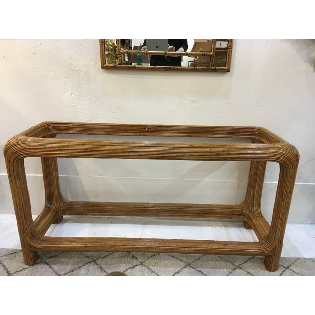 Gabriella Crespi Style Split Reed Console For Sale - Image 9 of 9