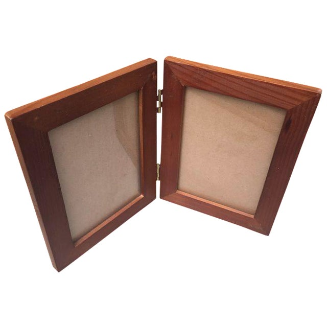 Rustic Wood Double Picture Frame - Image 1 of 4