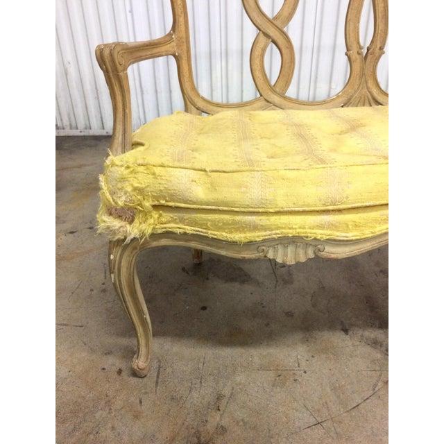 Vintage Loop Back Bench For Sale In West Palm - Image 6 of 7