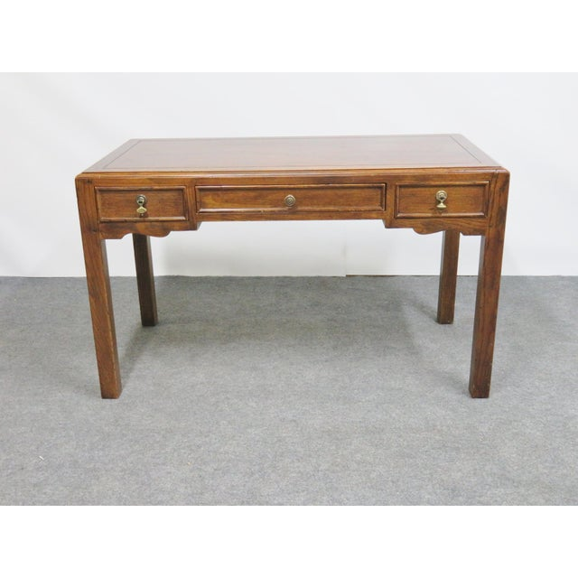 French Country Henredon Oak Desk For Sale - Image 9 of 9