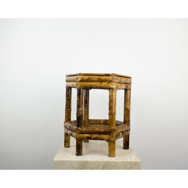 Brown Tortoise Bamboo Plant Stand Table For Sale - Image 8 of 8