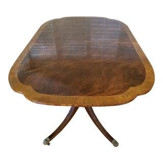 1980s Americana Baker Furniture Historical Charleston Mahogany Pedestal Dining Table