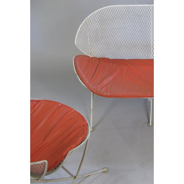 1950s Salterini Orange Slice Settee and Lounge Chair For Sale In New York - Image 6 of 7