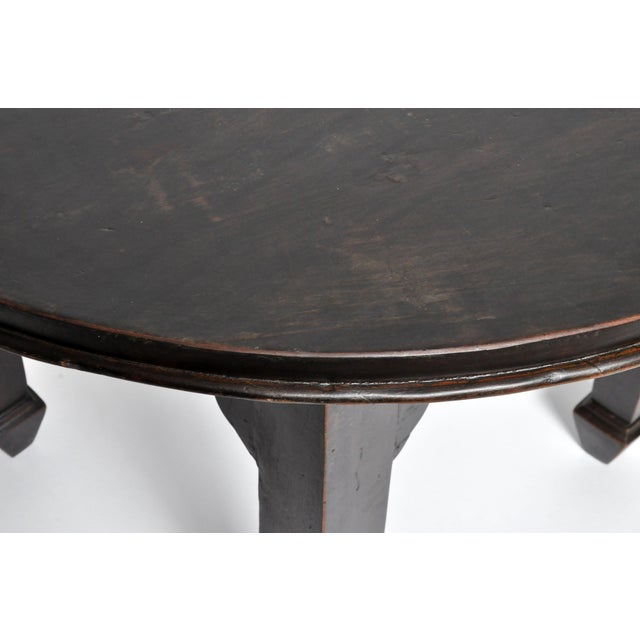 Brown British Colonial Burmese Round Table For Sale - Image 8 of 11