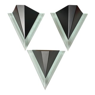 1980s Black Postmodern Electric Wall Sconce For Sale