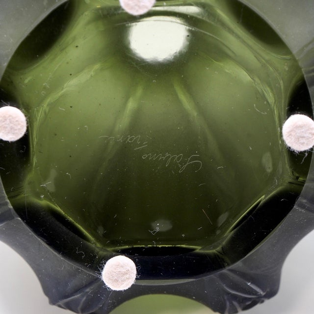 Mid-Century Sabino Glass Vase For Sale - Image 9 of 10