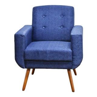 Modern Athena Armchair Blue For Sale