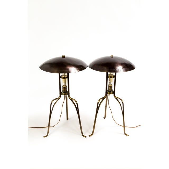 Arts & Crafts Tuell & Reynolds Bancroft Table Lamps (2 Available) For Sale - Image 3 of 10