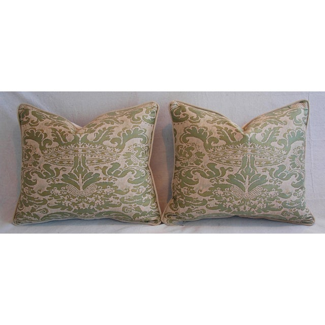 Italian Fortuny Corone Crown Down Pillows - A Pair - Image 7 of 11