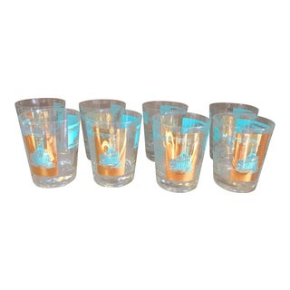 Mid-Century Cocktail Glasses, Set of 8 For Sale