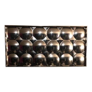 Turner Mid Century Bubble Mirror Wall Accessory For Sale