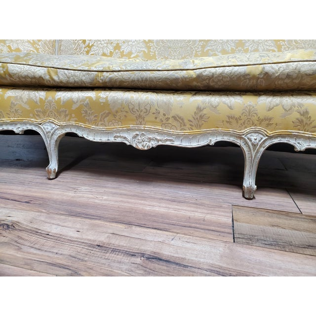 1930s Antique Victorian French Louis XV Style Couch For Sale - Image 9 of 13