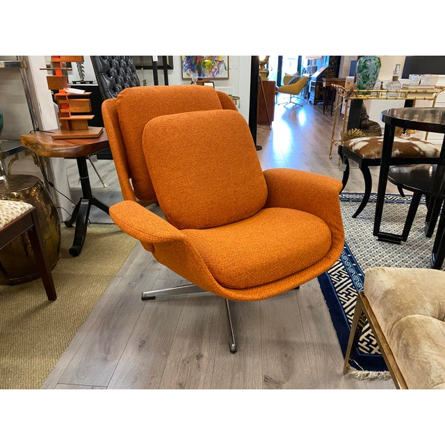 Textile Mid-Century Womb Chair With Ottoman From Stendig Furniture For Sale - Image 7 of 11