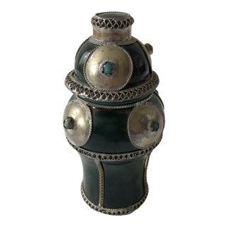Antique Art Deco Cabochon Filigree Urn For Sale