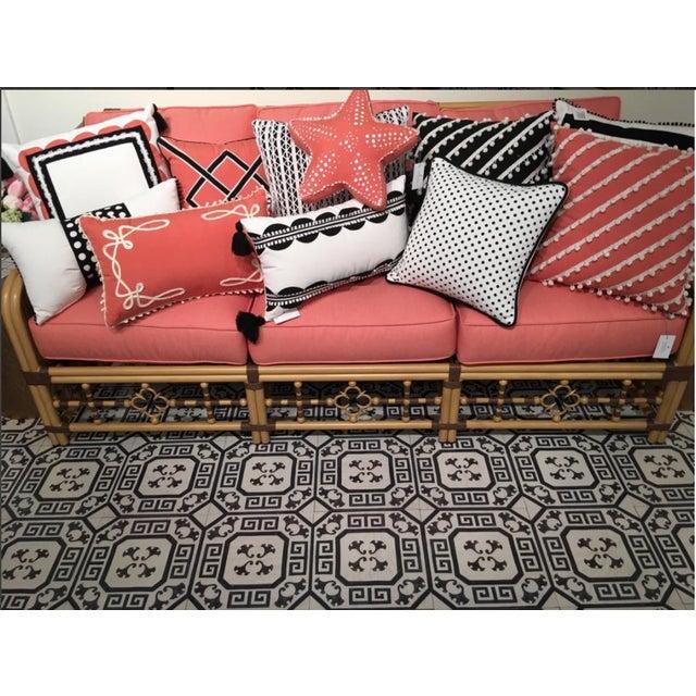 Not Yet Made - Made To Order Celerie Kemble Gingko Ink Hardwood Tile - Sample Tile For Sale - Image 5 of 6
