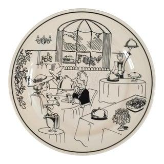 1970s Mid-Century Oneida Fancy Restaurant Platter For Sale