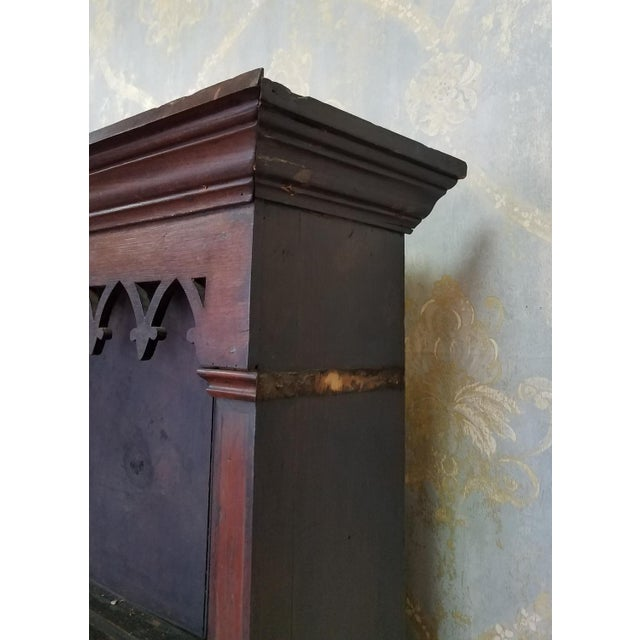 19th Century Antique Oak Inlaid Welsh/Jacobean Style Dining Room Hallway Cabinet Cupboard Hutch For Sale - Image 11 of 11