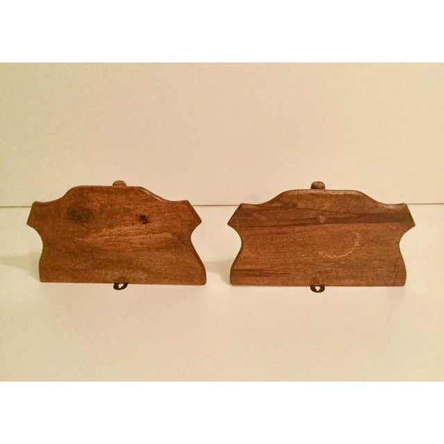 Traditional 1900s Traditional Wooden Wall Shelf - a Pair For Sale - Image 3 of 7